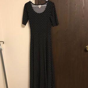 LuLaRoe Small Black & White Ana Dress